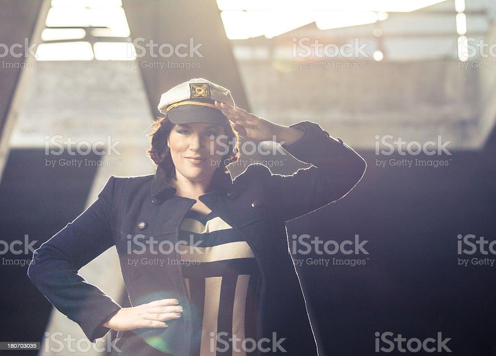 Sailor woman royalty-free stock photo
