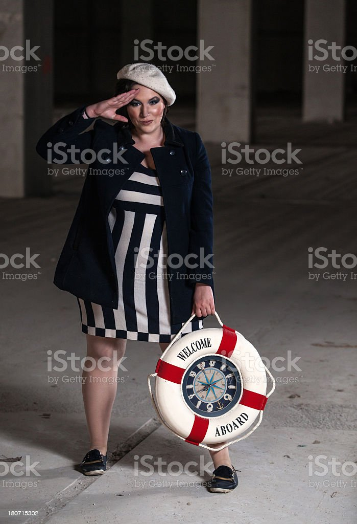 Sailor woman royalty-free stock photo