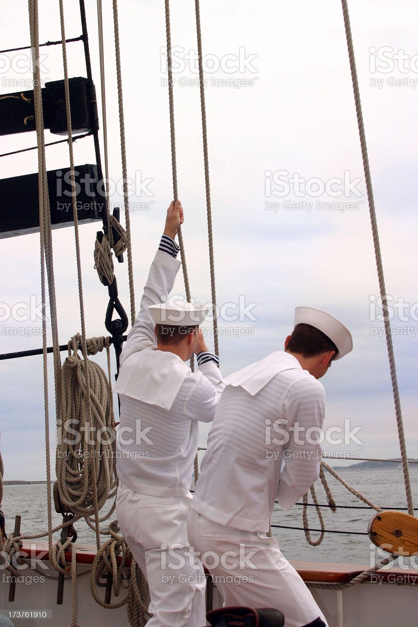Sailors royalty-free stock photo