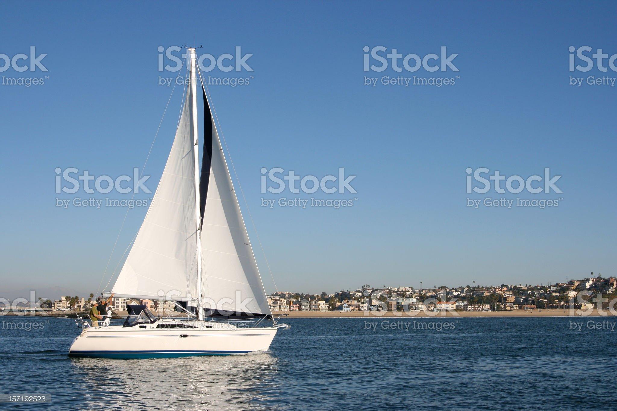 Sailor's Sailboat royalty-free stock photo