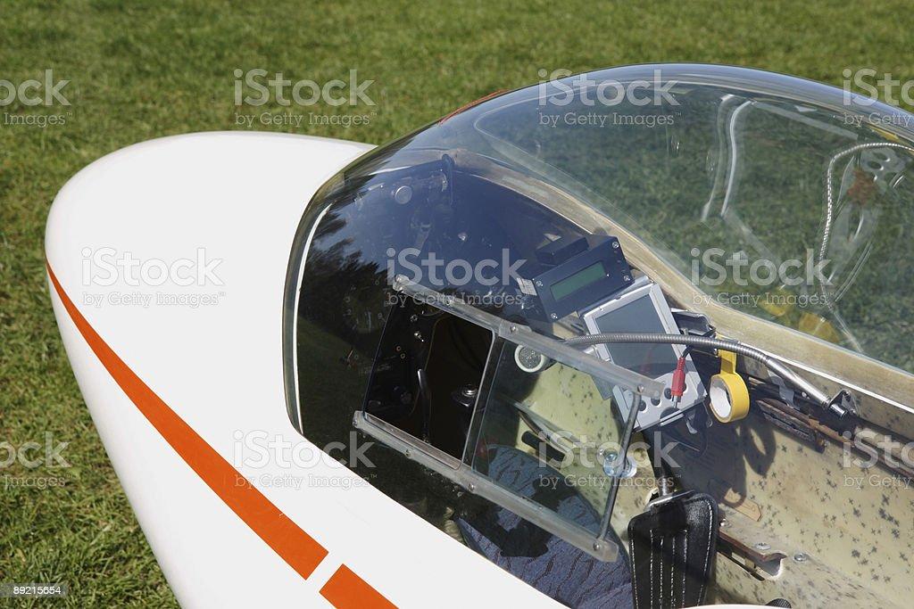 sailplane glider detail stock photo