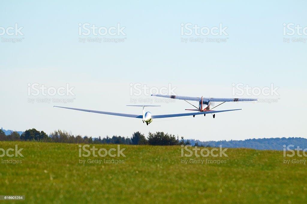 sailplane stock photo