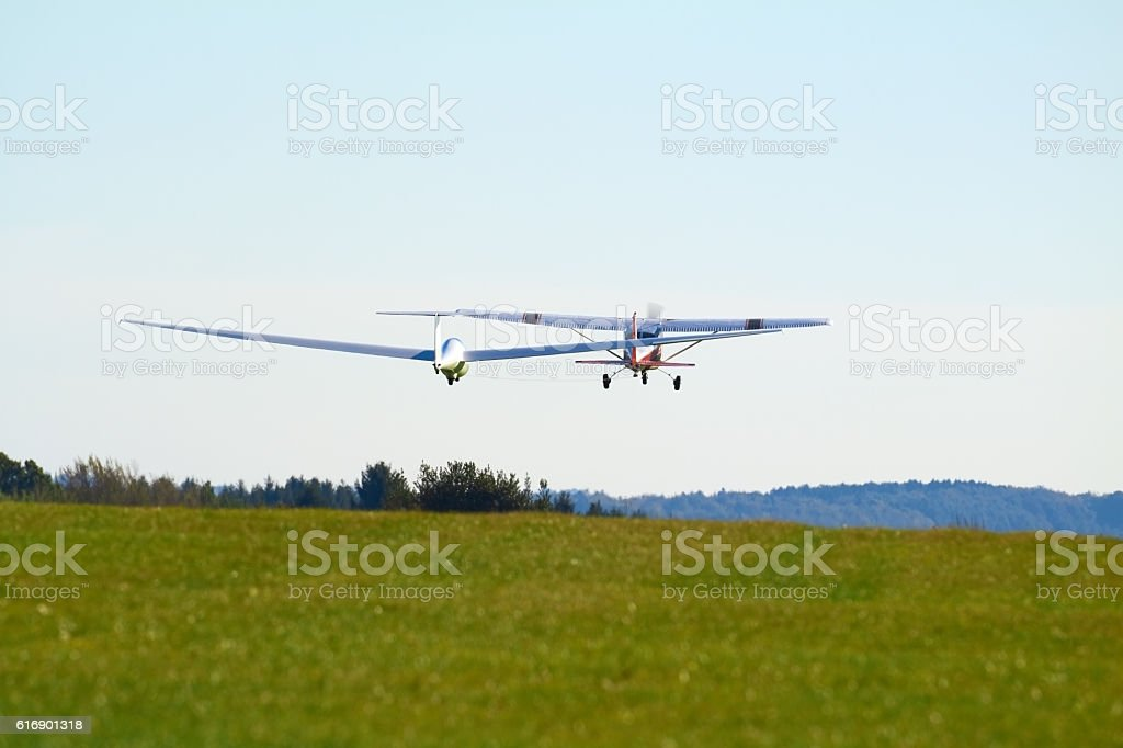 sailplane stock photo