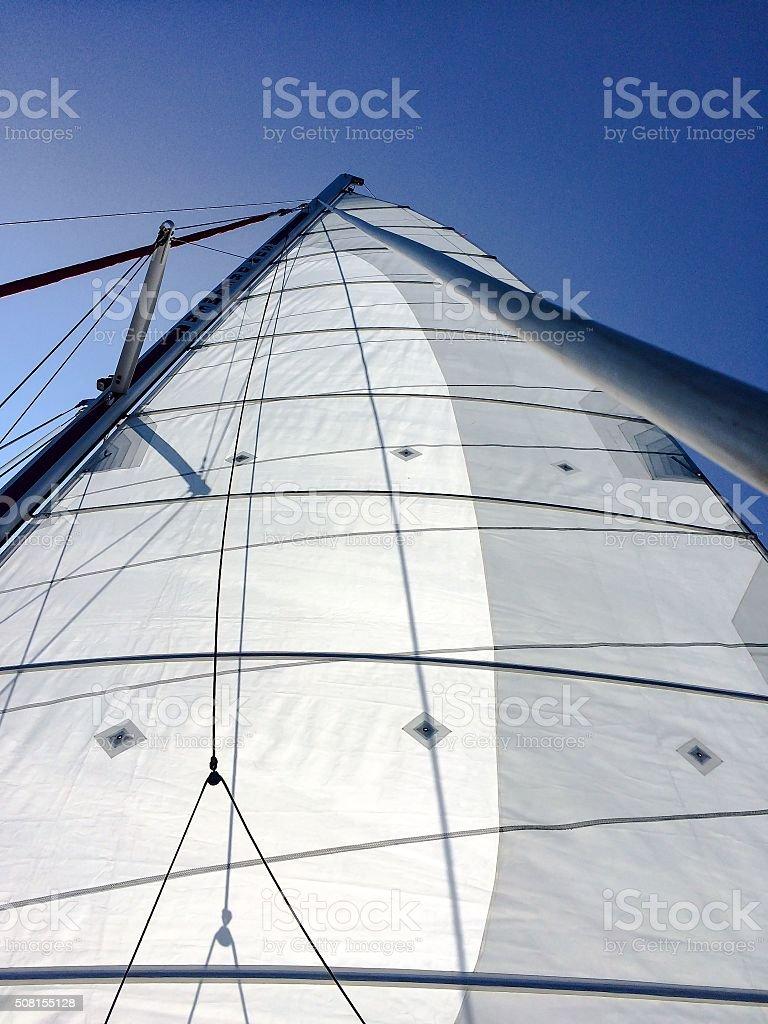 Sails rising stock photo
