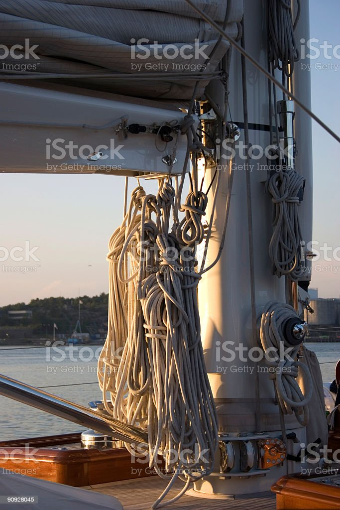 Sailyacht stock photo
