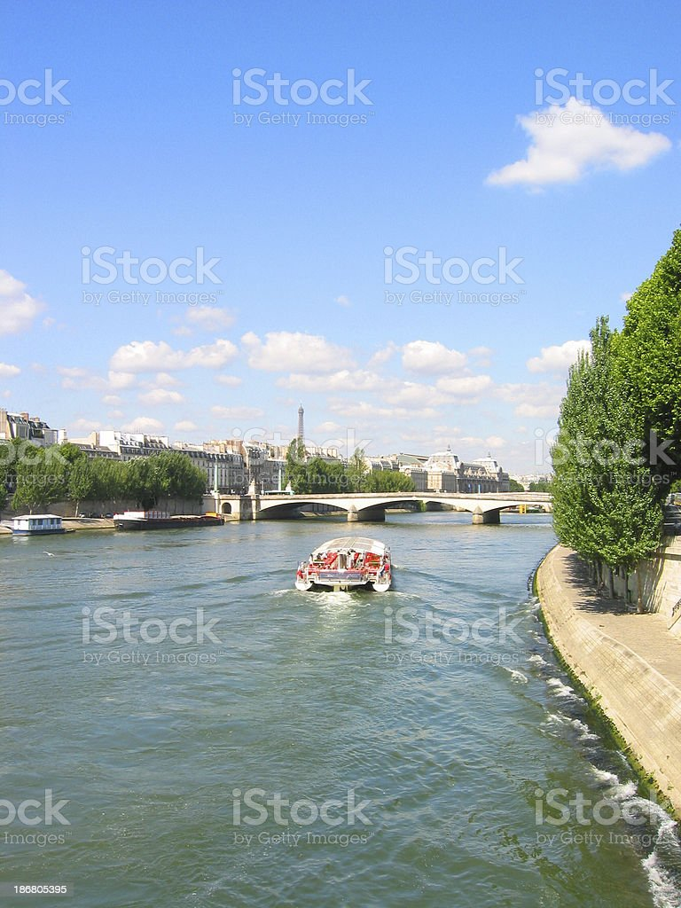 Saine - Boat stock photo