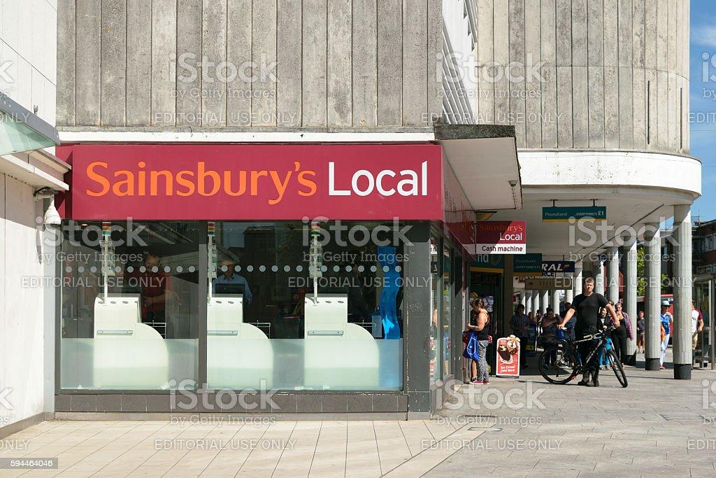 Sainsbury's Local store stock photo
