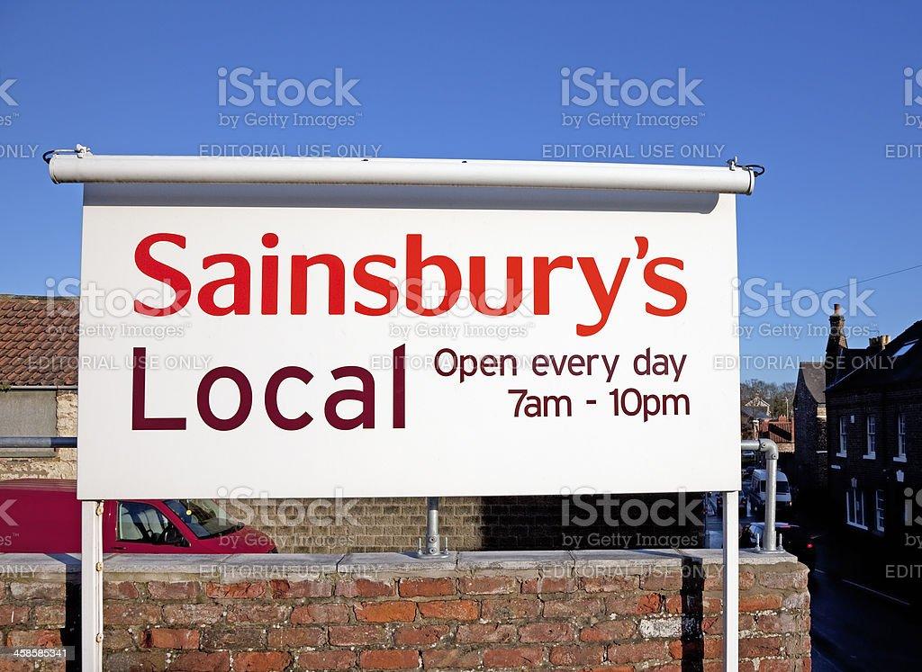 Sainsbury's store sign and logo stock photo