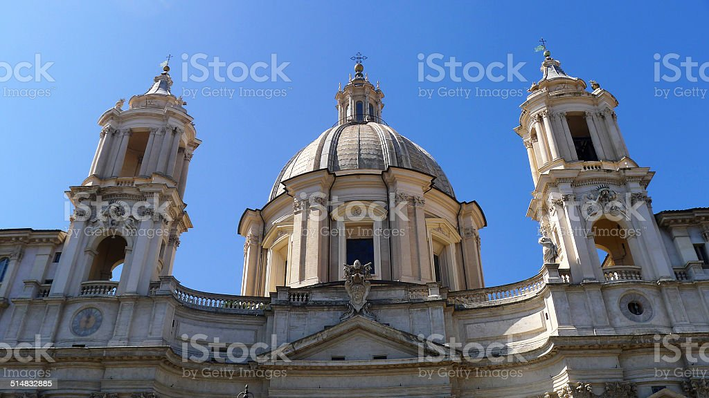 Sant Agnese in Agone stock photo