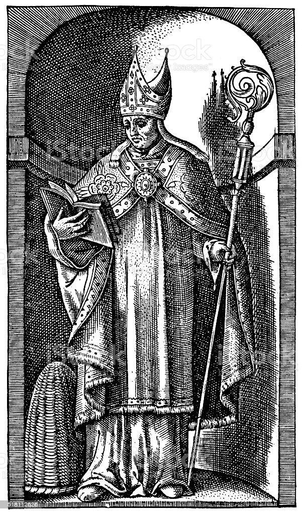 Saint Ambrose - Bishop Of Milan In The 4th Century stock photo