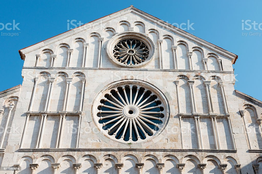 Saint Anastasia Cathedral, Zadar, Croatia stock photo