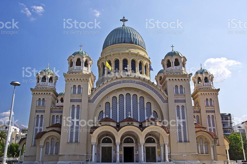 Saint Andrew of Patras. Greece stock photo
