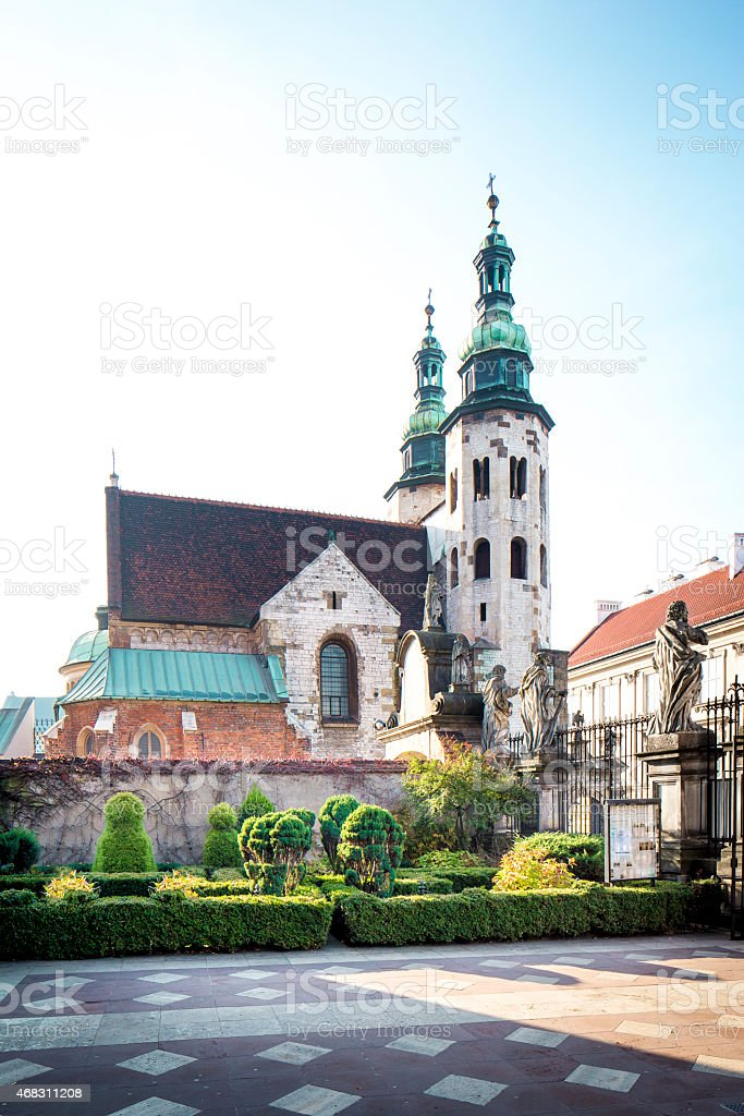 Saint Andrew's church in Cracow stock photo