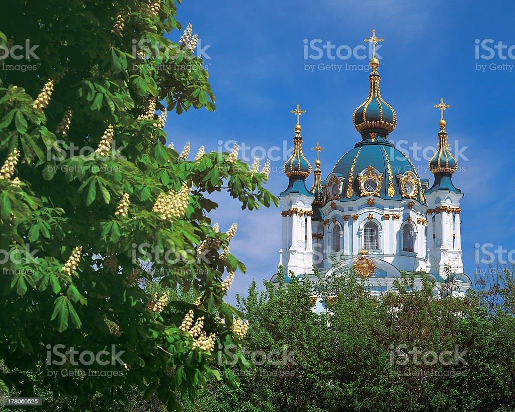 Saint Andrew's Church in Kiev, Ukraine stock photo