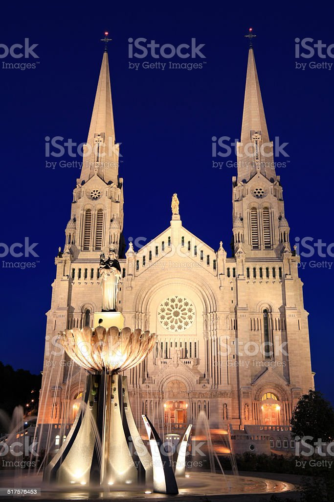 Sainte Anne de Beaupre Cathedral stock photo