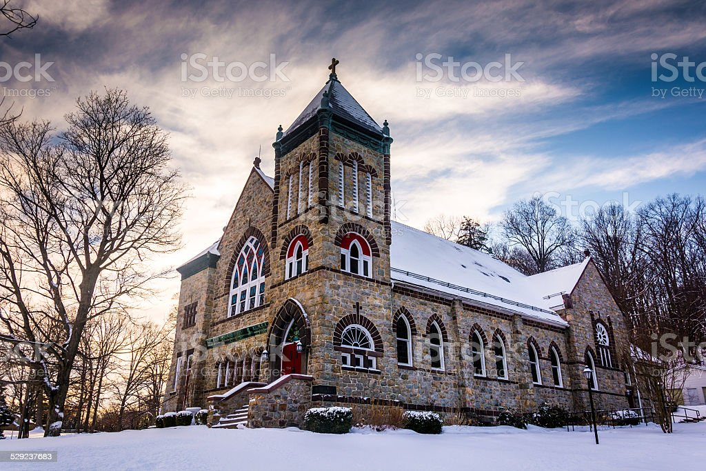 Saint Anthony's Shrine, in Emmitsburg, Maryland. stock photo