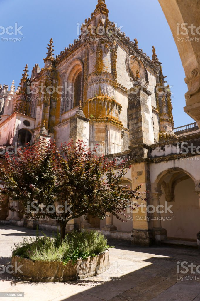 Saint Barbara's Cloister Convent Order of Christ in Tomar, Portugal stock photo