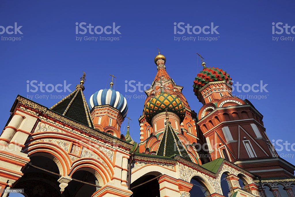 Saint Basil orthodox cathedral at sunset royalty-free stock photo