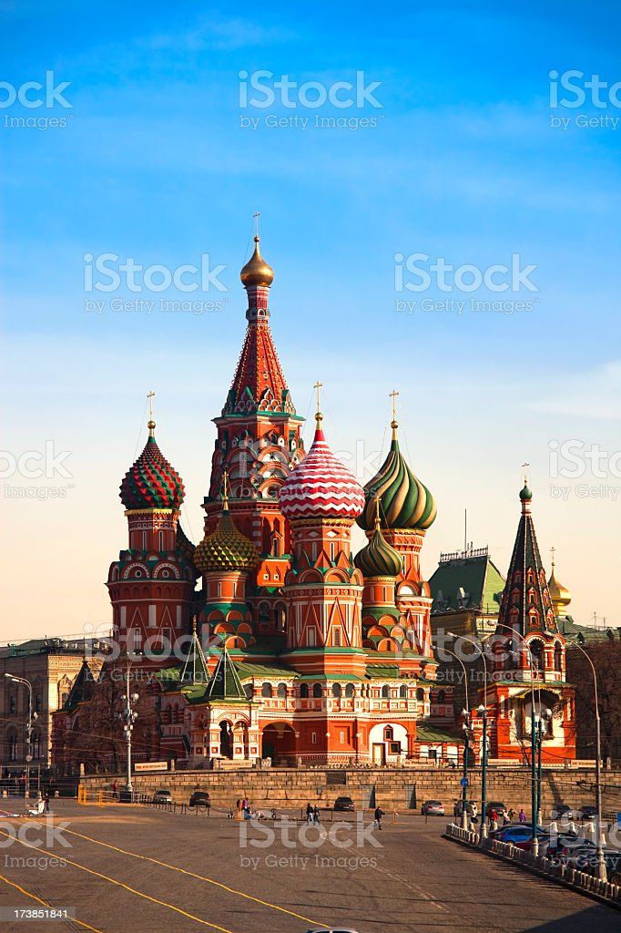 Saint Basil's Cathedral in Moscow (XXXL) stock photo