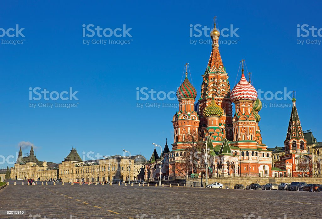 Saint Basil's Cathedral in Moscow, Russia stock photo