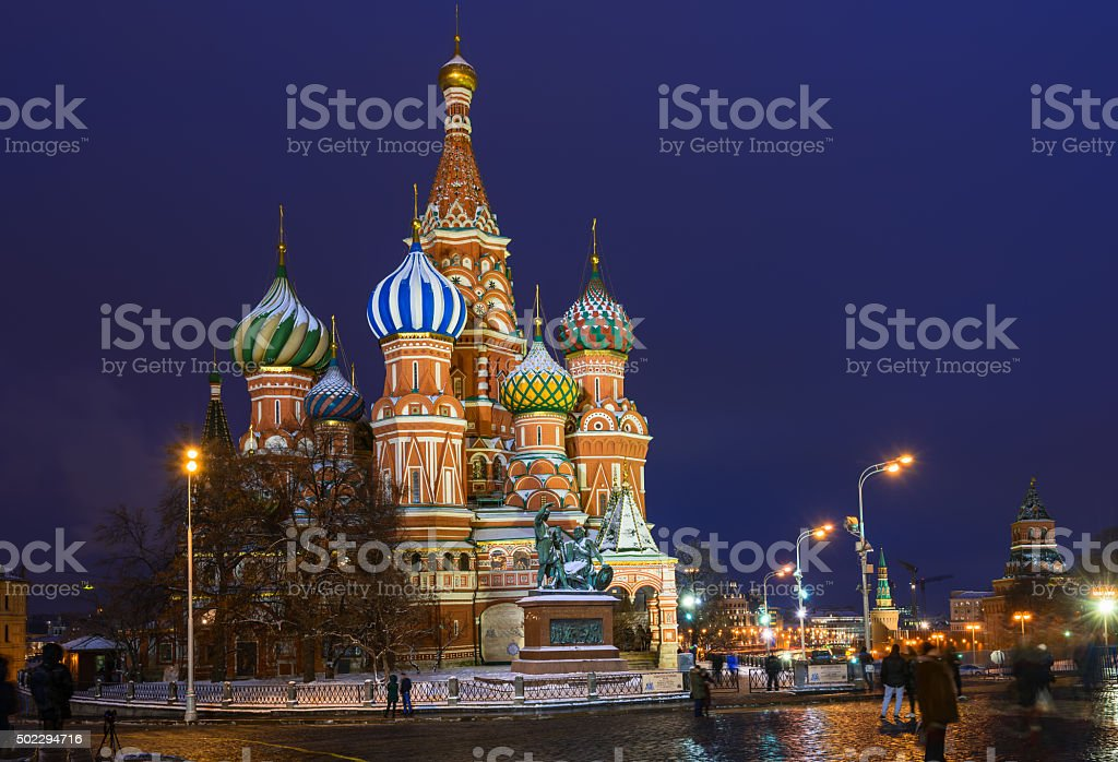 Saint Basil's Cathedral in Moscow. Russia stock photo
