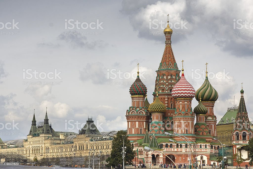 Saint Basil's Cathedral on Red square, Moscow, Russia royalty-free stock photo