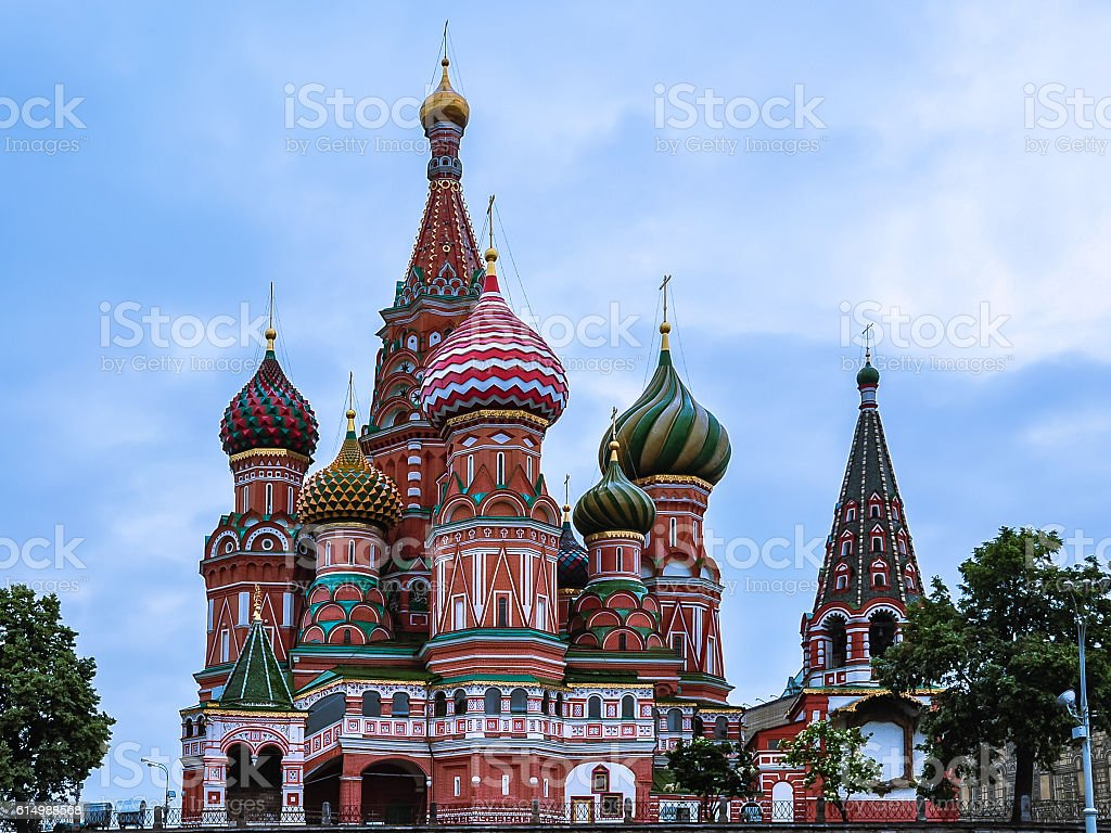 Saint Basil's Cathedral - Red Square, Moscow, Russia stock photo