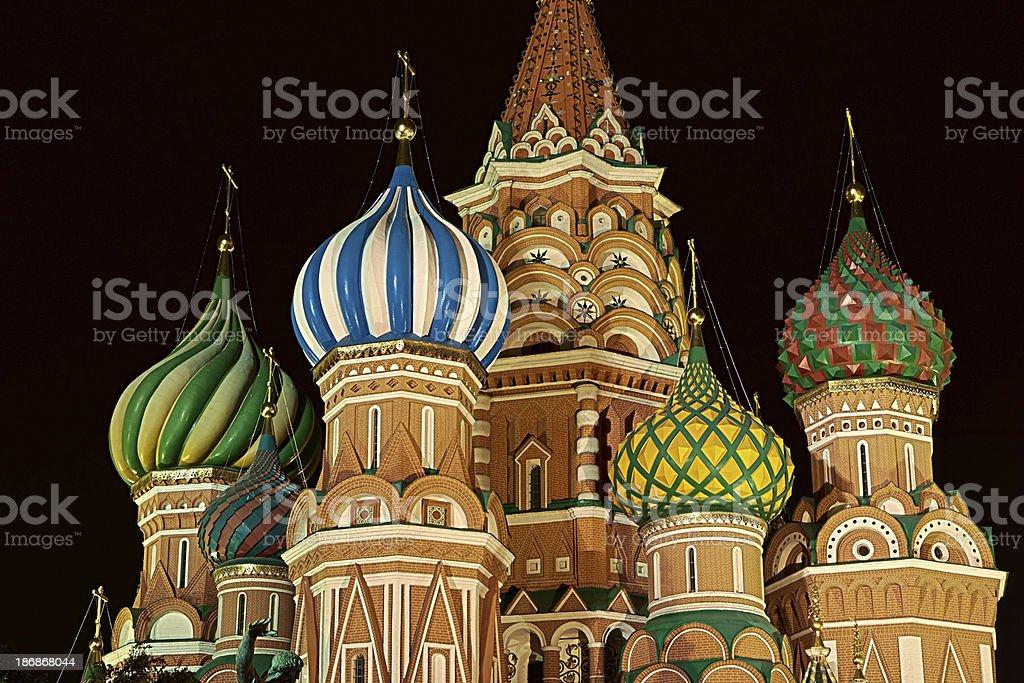 Saint Basil's, Moscow at night royalty-free stock photo