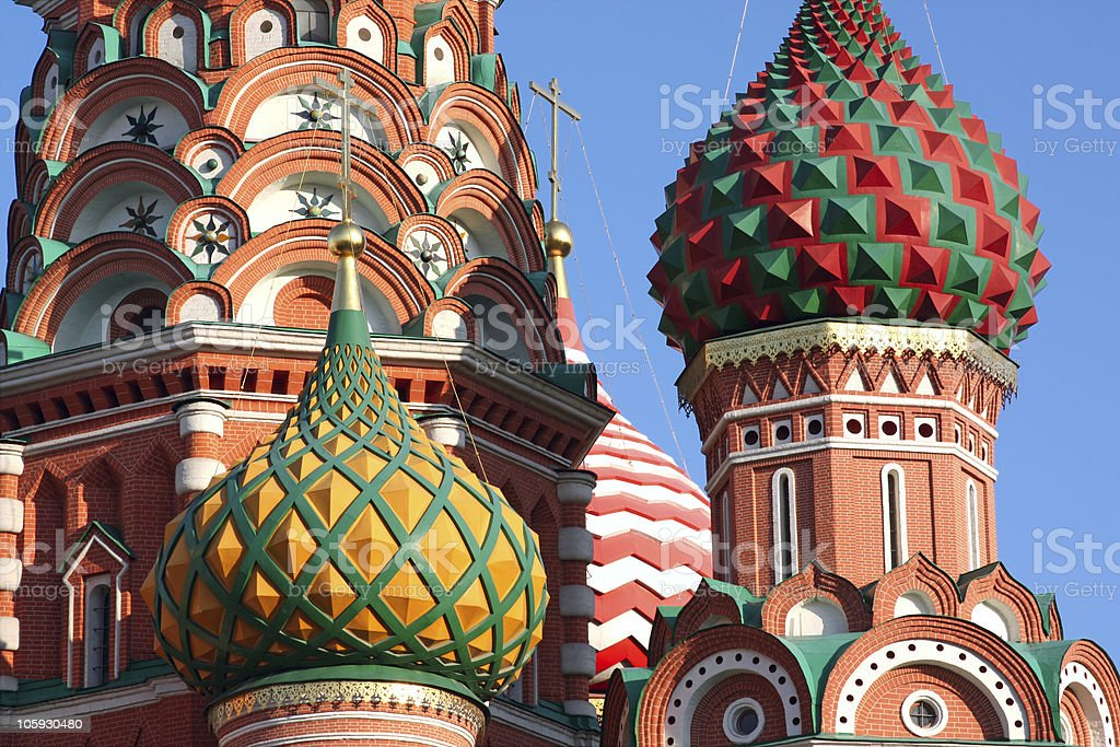Saint Basil's orthodox cathedral in Moscow, Russia royalty-free stock photo