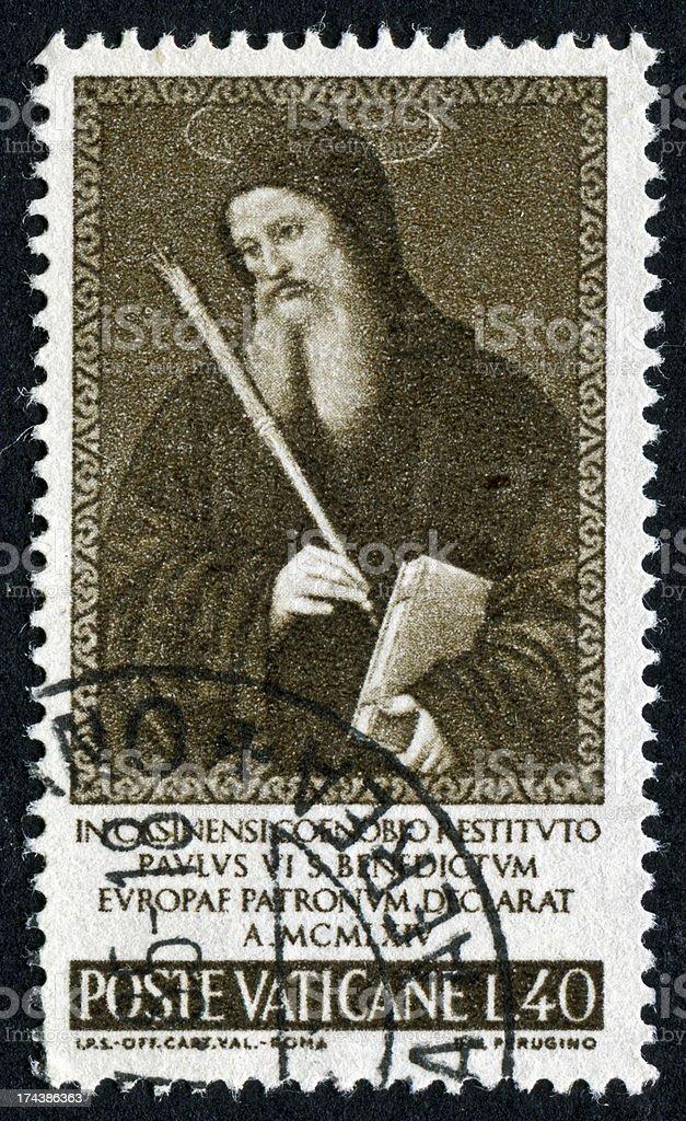 Saint Benedict Stamp royalty-free stock photo