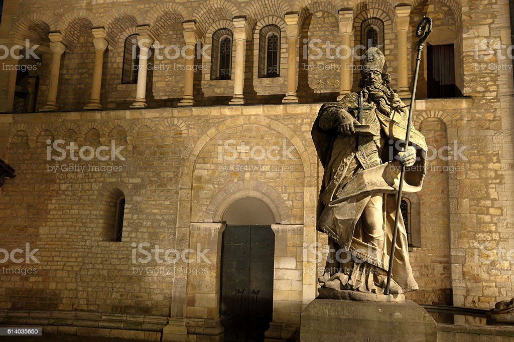 Saint Boniface at the cathedral of Mainz stock photo