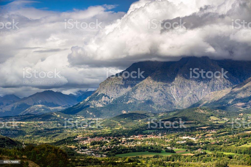 Saint Bonnet en Champsaur in Summer . Alps, Champsaur, France stock photo