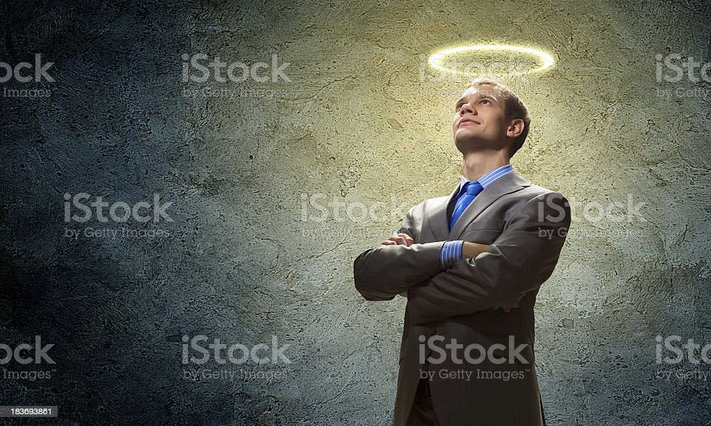 Saint businessman royalty-free stock photo