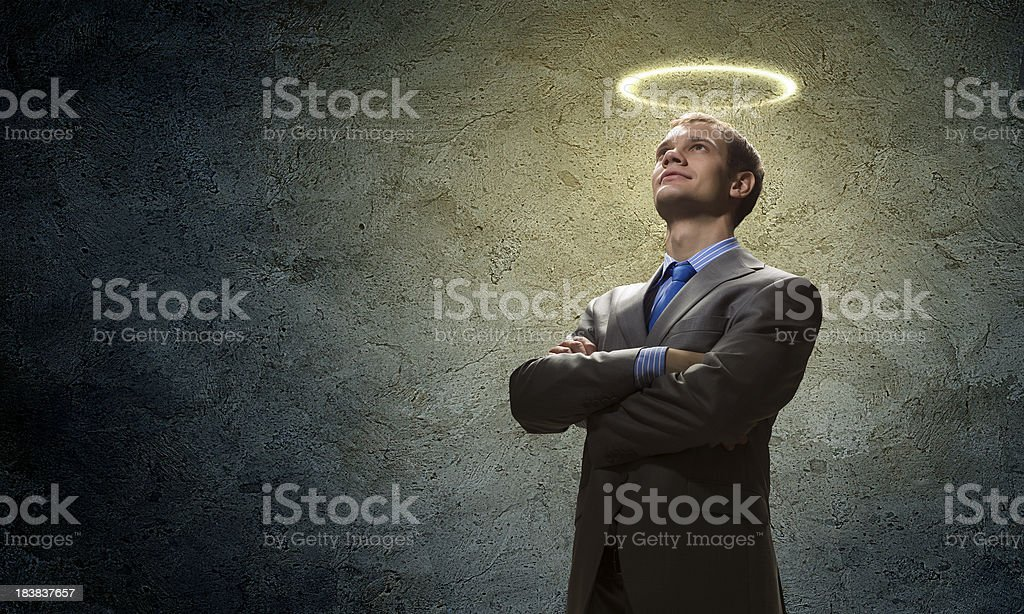 Saint businessman royalty-free stock photo