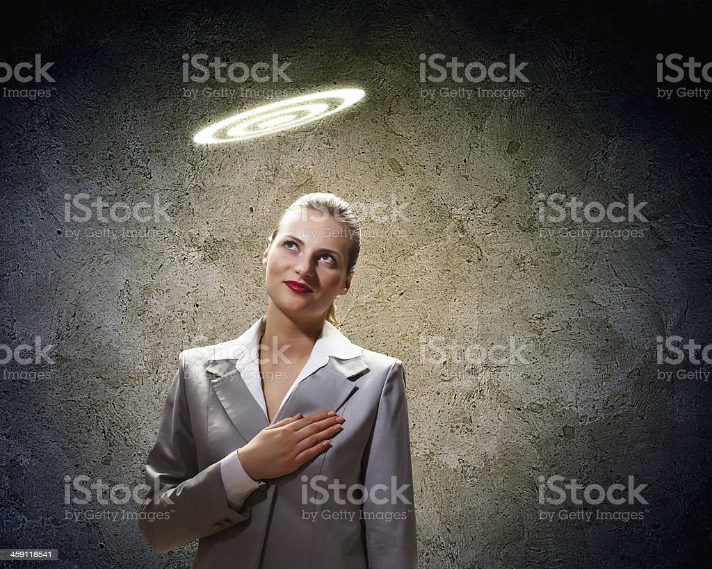 Saint businesswoman royalty-free stock photo