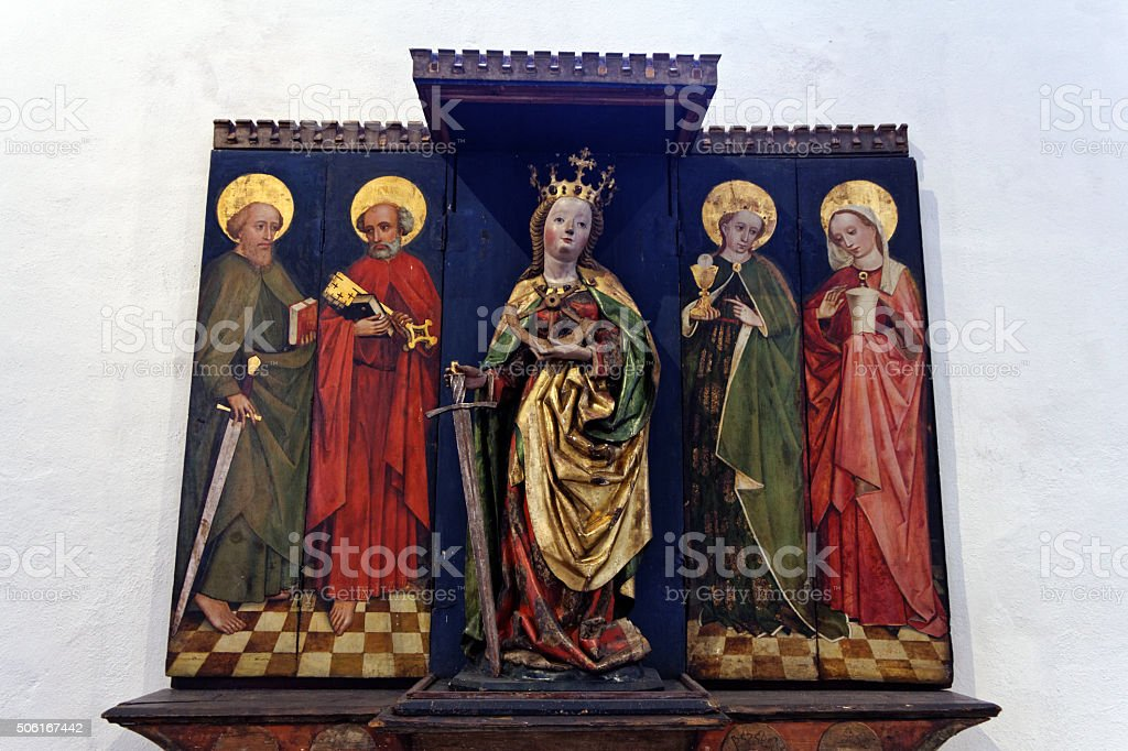 Saint Catherine - Altar stock photo