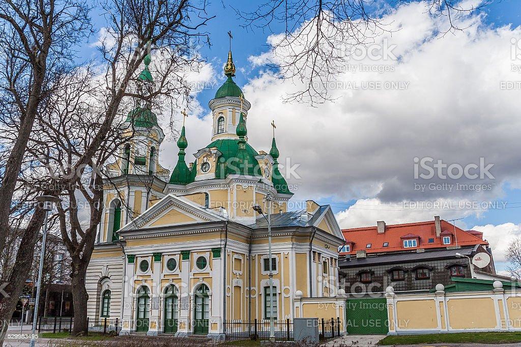 Saint Catherine Church in Parnu stock photo