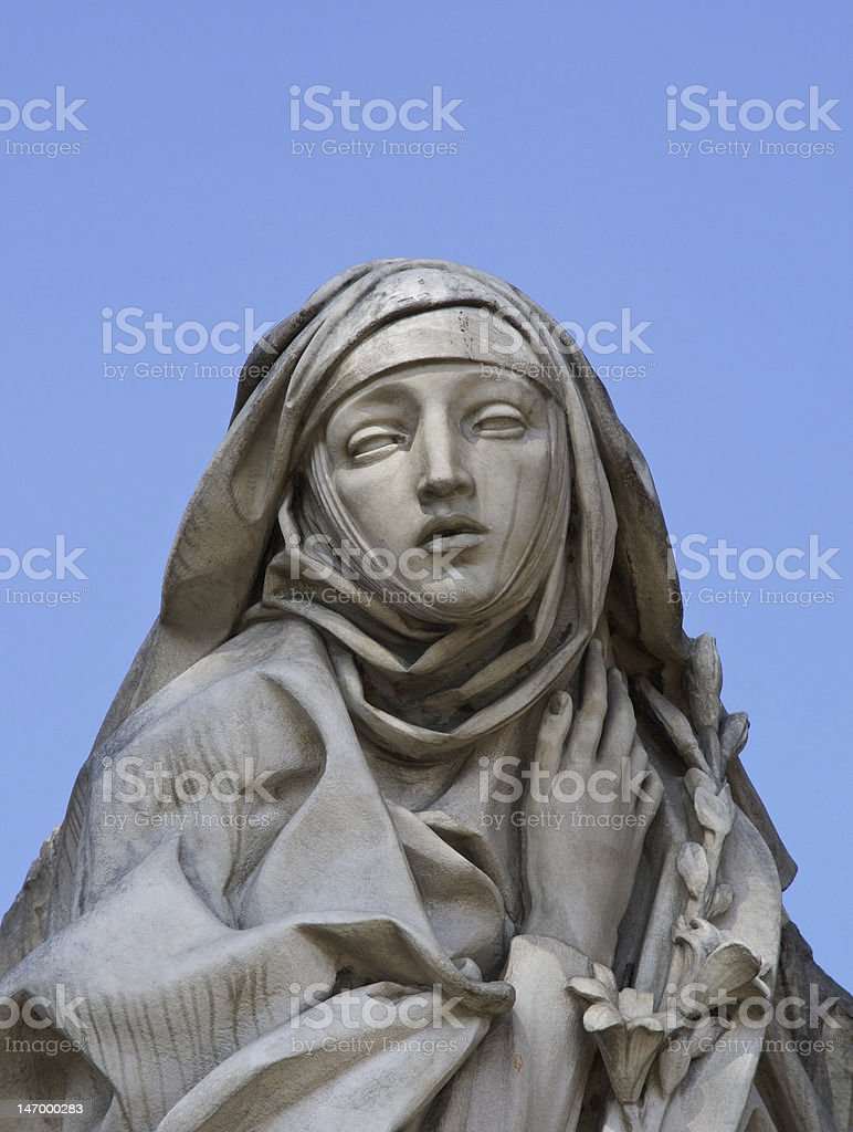 Saint Catherine of Siena stock photo