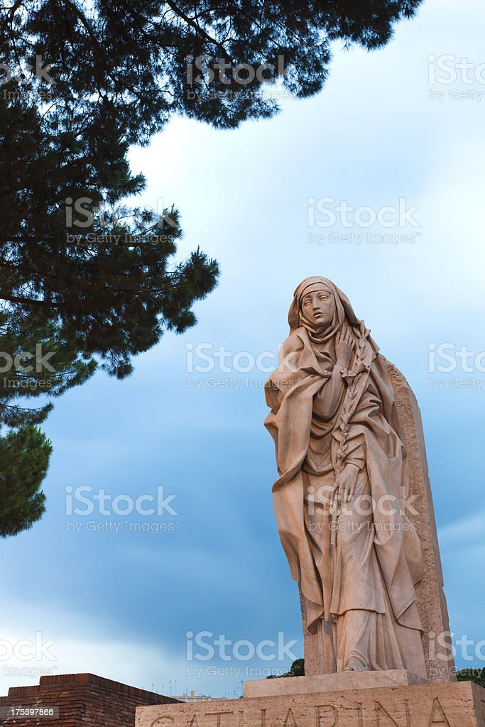 Saint Catherine of Siena, Rome stock photo