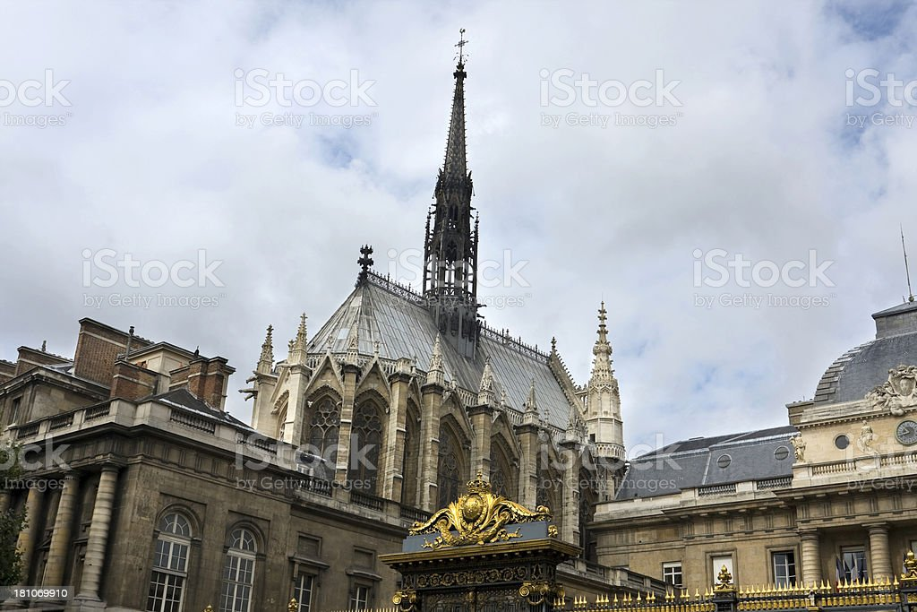 Saint Chapelle stock photo