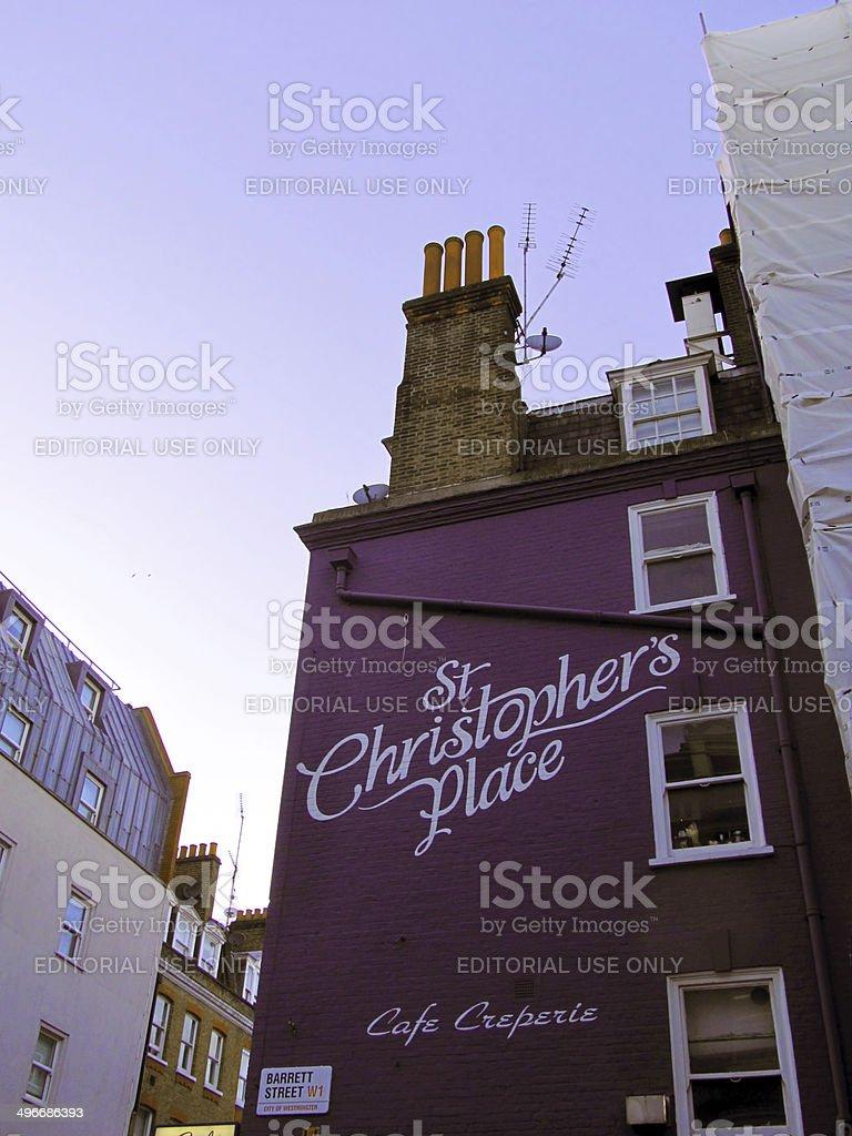 Saint Christopher's place stock photo