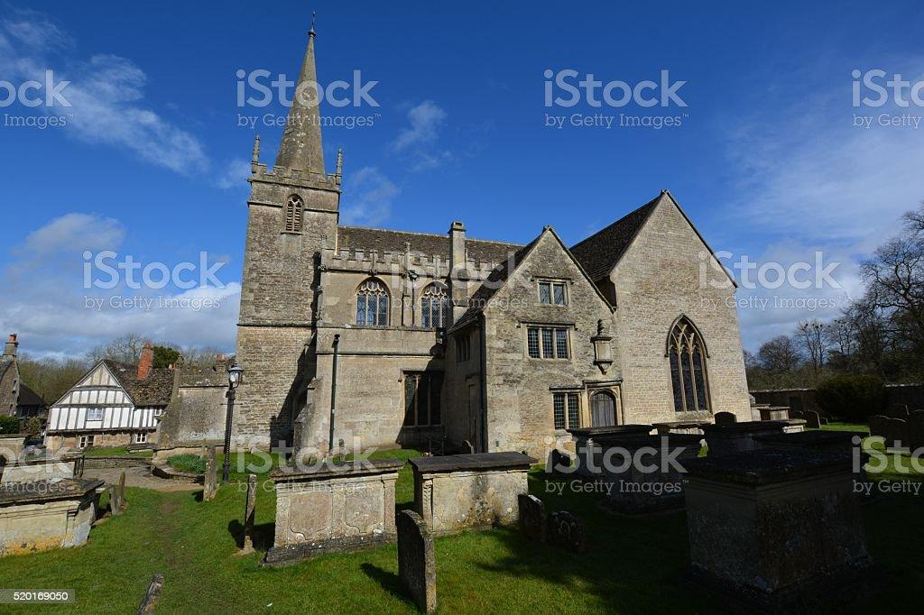 Saint Cyriac's Church, Lacock, near Chippenham, Wiltshire stock photo