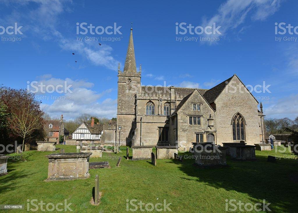 Saint Cyriac's Church, Lacock, Wiltshire stock photo