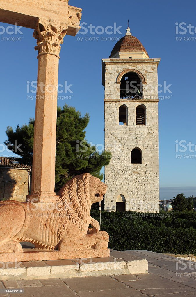 Saint Cyriacus cathedral in Ancona stock photo