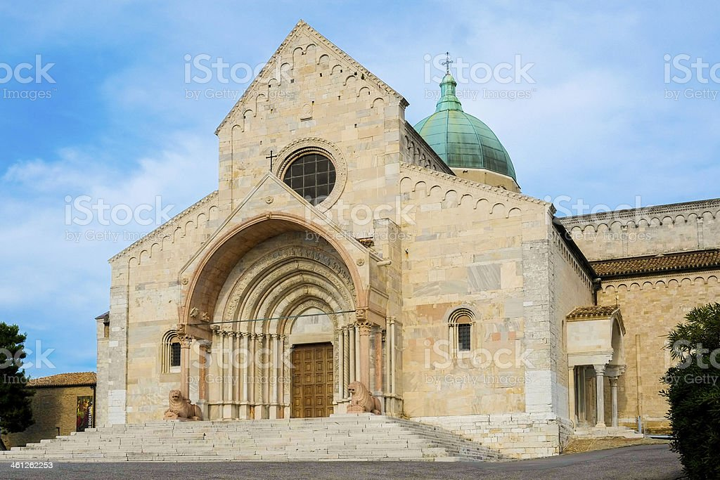 Saint Cyriacus cathedral stock photo