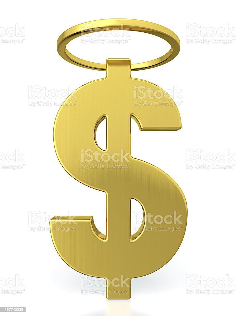 Saint dollar stock photo