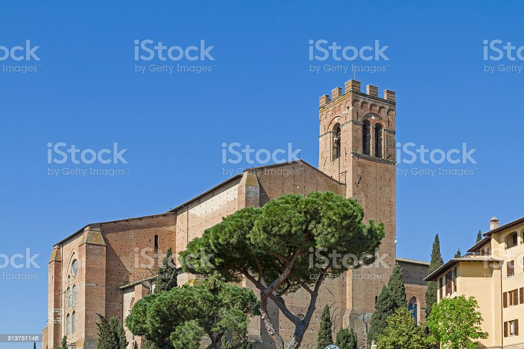 San Domenico in Siena stock photo