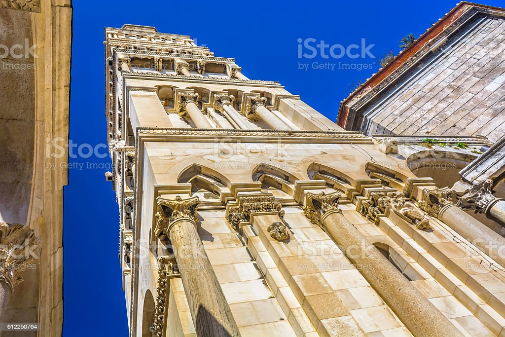Saint Domnius bell tower. stock photo
