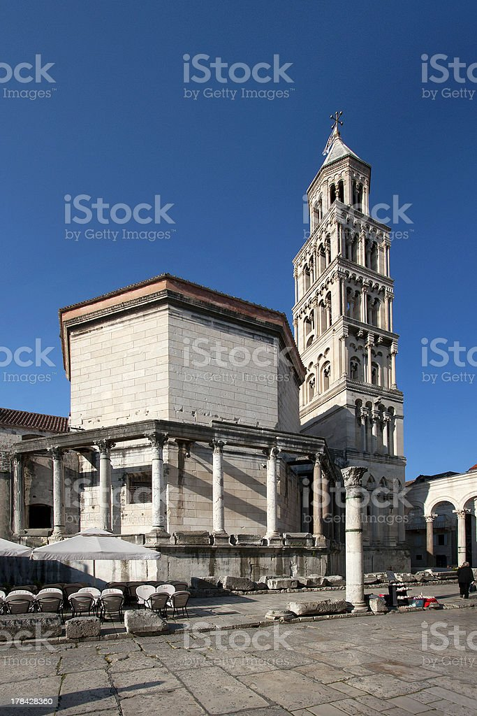Saint Domnius cathedral, north facade stock photo