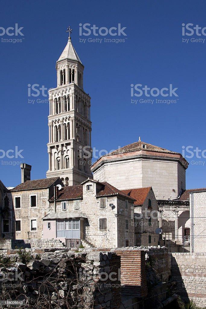 Saint Domnius cathedral, southeast facade stock photo
